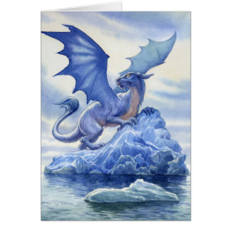 Ice Dragon Note Card