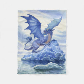 Ice Dragon Small Fleece Blanket