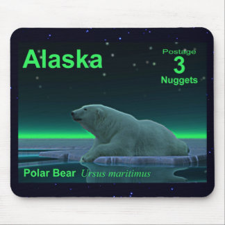 Ice Edge Polar Bear Mouse Pad