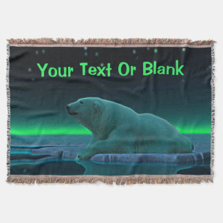 Ice Edge Polar Bear Throw Blanket
