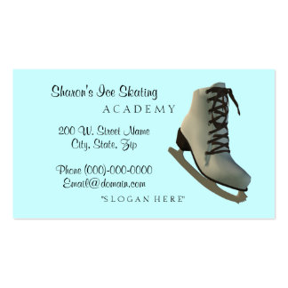 Ice Figure Skating Instructor Business Cards