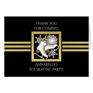 Ice | Figure Skating Themed Party Thank You Card