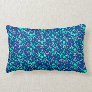 Ice Fisherman Snowflake Hexagon Pattern Lumbar Cushion