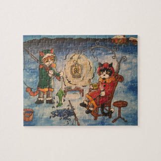 Ice Fishing at Night Jigsaw Puzzle