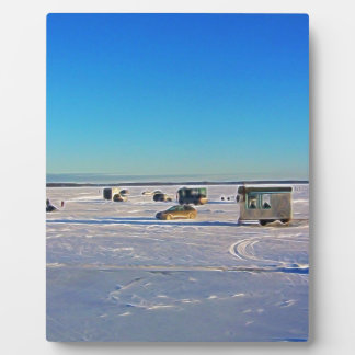 Ice Fishing collectin Plaque