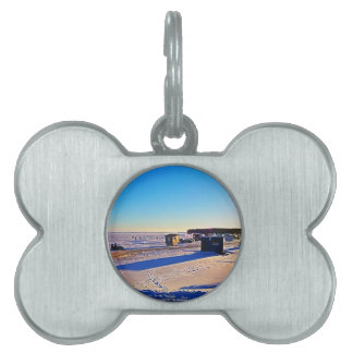 Ice Fishing collection Pet Name Tag