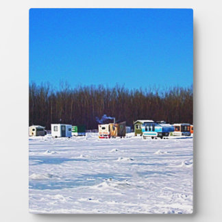 Ice Fishing collection Plaque