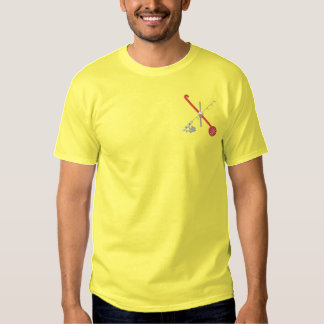 Ice Fishing Logo Embroidered T-Shirt