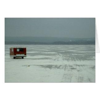 Ice fishing trailer card