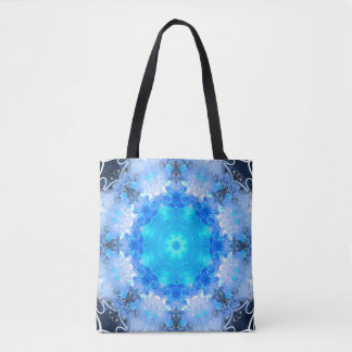 Ice Floral Tote Bag