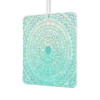 Ice Flower Mandala Car Air Freshener