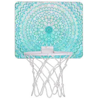 Ice Flower Mandala Mini Basketball Hoop