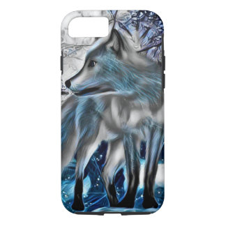 Ice fox art iPhone case