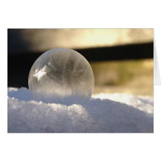 Ice globe card