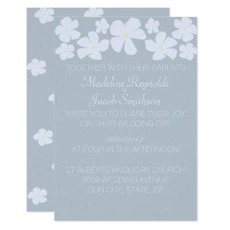 Ice Grey Jasmine Wedding Invitations