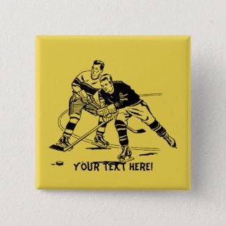 Ice hockey 15 cm square badge