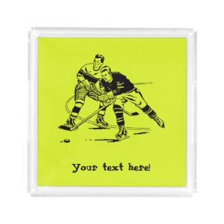 Ice hockey acrylic tray