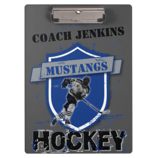 Ice Hockey Add Your Own Name Clip Board