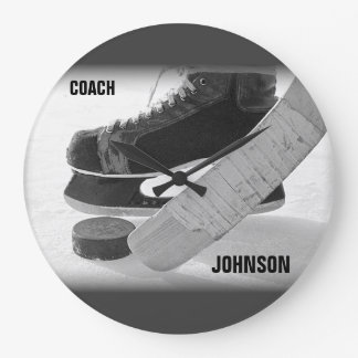 Ice Hockey Coach Thank You Large Clock