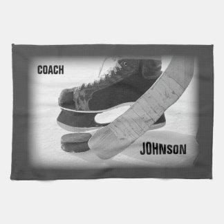 Ice Hockey Coach Thank You Tea Towel