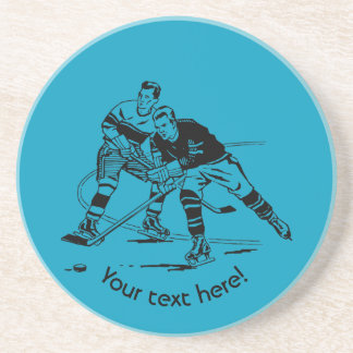 Ice hockey coaster