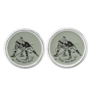 Ice hockey cufflinks