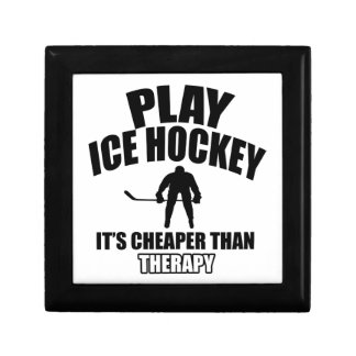 Ice hockey design gift box