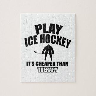 Ice hockey design jigsaw puzzle