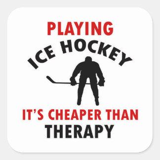 ice hockey design square sticker