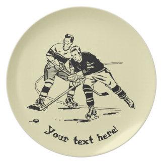 Ice hockey dinner plates