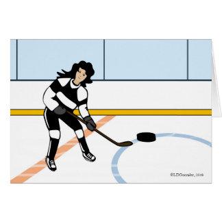 Ice Hockey Girl Greeting Card