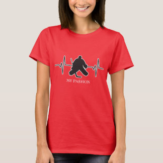Ice Hockey Goalie - My Passion Heartbeat T-Shirt