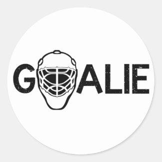 Ice Hockey Goalie Round Sticker