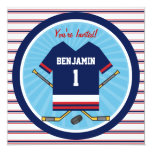Ice Hockey Jersey V2 1st Birthday Party 13 Cm X 13 Cm Square Invitation Card