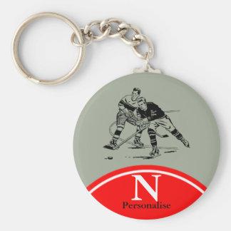 Ice hockey key ring