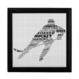 Ice Hockey Languages Calligram Keepsake Box