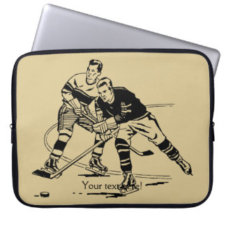 Ice hockey laptop sleeve