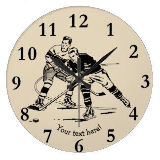 Ice hockey large clock