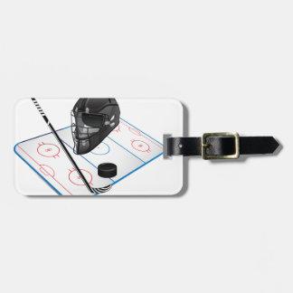 Ice Hockey Luggage Tag