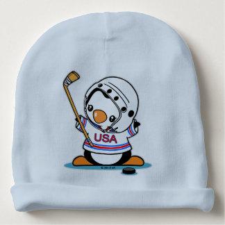 Ice Hockey Penguin Baby Beanie