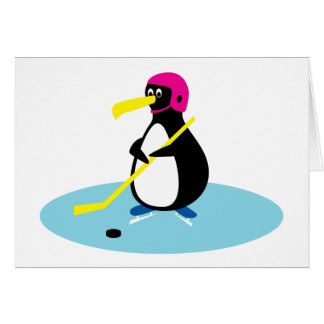 Ice Hockey Penguin Card