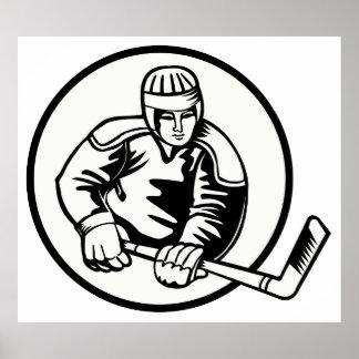Ice Hockey Pictogram Print
