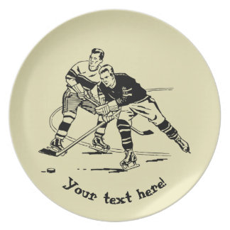 Ice hockey plate