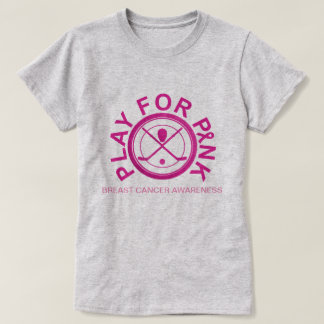 Ice Hockey Play for Breast Cancer Awareness Shirt