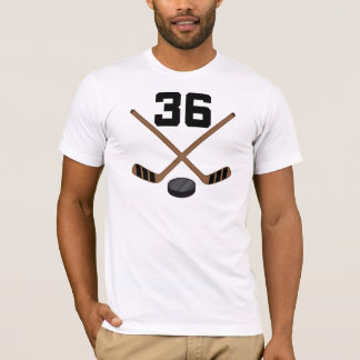 Ice Hockey Player Jersey Number 36 Gift T-Shirt