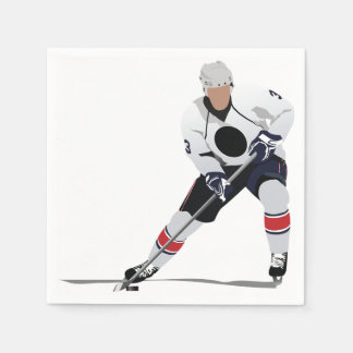 Ice Hockey Player Paper Napkins