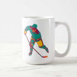 Ice Hockey Player(teal), Personalized Mug