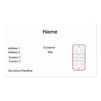 ice hockey rink graphic business cards