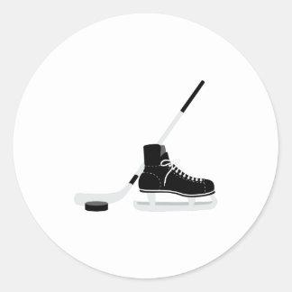 Ice Hockey Skate Round Sticker