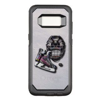 Ice Hockey Skates Helmet Puck With Name And Number OtterBox Commuter Samsung Galaxy S8 Case